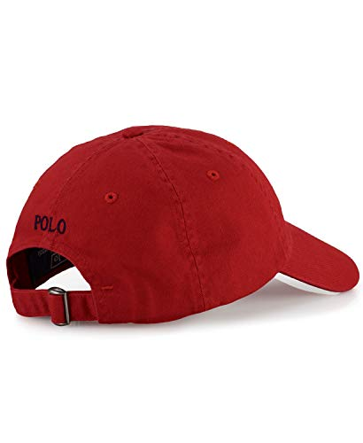 Imagen de polo ralph lauren   de béisbol  rojo con logo azul marino alternativa