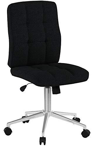 Relaxdays Bürostuhl, Metall, H x B x T: ca. 104 x 60 x 60 cm