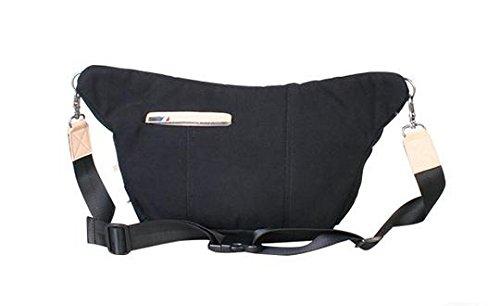 &ZHOU Borsa di tela grande capacità tracolla Messenger bag di svago di modo zaino 22 * ??10 * 27 centimetri , black Black
