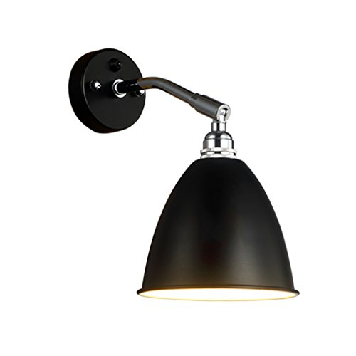 LIZHIQIANG Nordische Moderne Minimalistische Amerikanische Retro Gang Wohnzimmer Nachttischlampe Swing Wandleuchte Schlafzimmer Wandleuchte, Wandbehang ( Farbe : Schwarz )