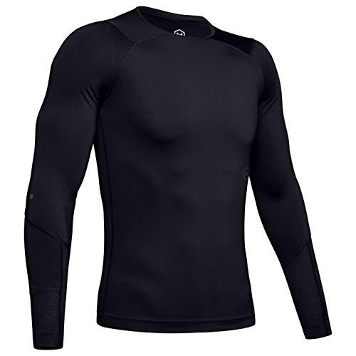 Under Armour Herren UA Rush Compression LS Langarmshirt, Schwarz, LG Under Armour Long Sleeve Sweatshirt