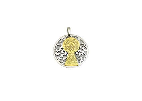 Medalla Virgen del Pilar en Plata de Ley y Diamante