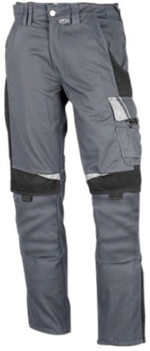 Preisvergleich Produktbild PKA BestWork Bundhose Arbeitshose (52, Grau/Schwarz)