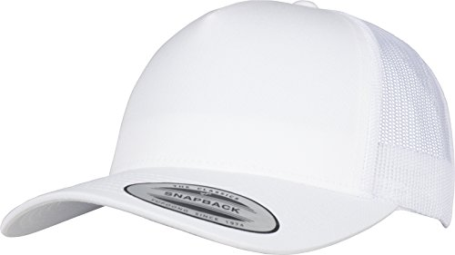 Flexfit 5-Panel Retro Trucker Cap Kape, White, one Size Panel-mesh-cap
