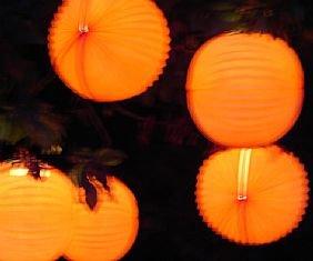 Orange Solid Garden Lanterns5 Pack