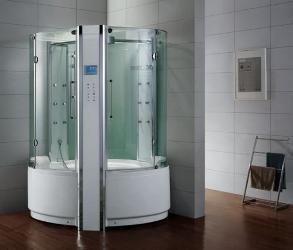 Dampfdusche/Wellnessdusche APHRODITE WS129 1350 x 1350 x 2300mm Rückwandfarbe: weiß