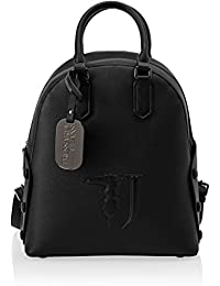 Trussardi Jeans Melissa Backpack Covered Studs Zaino Donna, 26.5x30x11 cm (W x H x L)