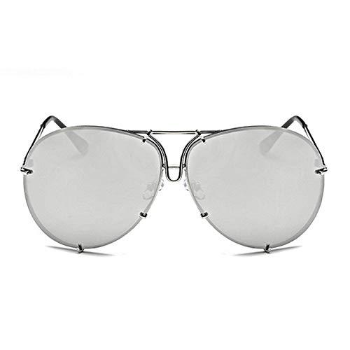 Wagonste - Frauen Männer übergroße Sonnenbrille-Marke Design Superstar Weiblich Männlich Spiegel Sonnenbrillen Kim Kardashian Sonnenbrille [Typ 1]