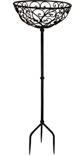 Blumenständer Pflanzständer* Metallkorb mit Erdspieß* Eisen braun-antik, ca. Ø 40 cm