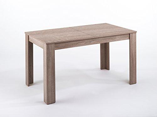 CAVADORE Tisch NICK / Moderner Esstisch 140 cm mit ausziehbarer Tischplatte auf 180 cm /...