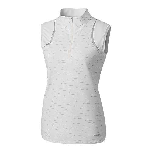 Cutter & Buck Damen Drytec UPF 50+ Sleeveless Elite Contour Mock Jersey Golf-T-Shirt, weiß, X-Klein -