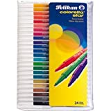 Pelikan C302/24 – Felt Pens (Multicolour, Beige, black, blue, brown, Cyan, Green, Grey, Ivory, Light Cyan, Light Magenta, Lilac, Magenta, Moka)