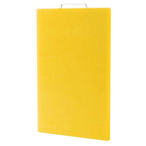 Schneidbretter Kunststoffverdickung Haushalt Kunststoff Schneidebrett Schneidebrett Größe PE Schneidebrett Panel Holz Schneidbretter (Color : Yellow, Größe : 50 * 35 * 2cm)