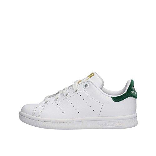 Adidas Unisex Bambini Stan Smith Sneaker Collo Basso Bianco (ftwbla / Ftwbla / Veruni)