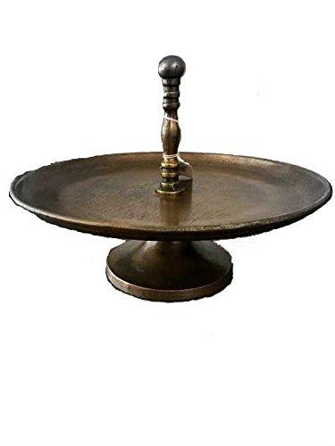 Bronze Etagere ein 1 stufig Antik Design in Ø34cm und 28cm hoch