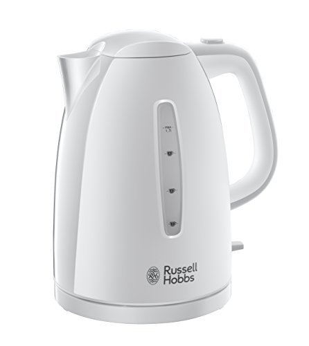 Russell Hobbs Textures Plastic Kettle 21270, 1.7 L, 3000 W - White Best Price and Cheapest
