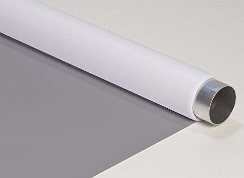 vinylhintergrund Doppelseite Grau-Weiß 160x400cm