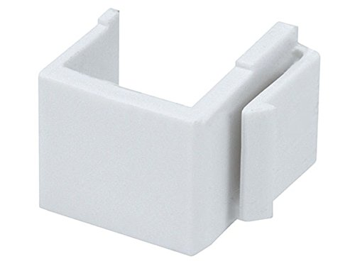 Monoprice Blank Insert for Wall Plate 10 pcs/Pack White Blank Wall Plate Cover