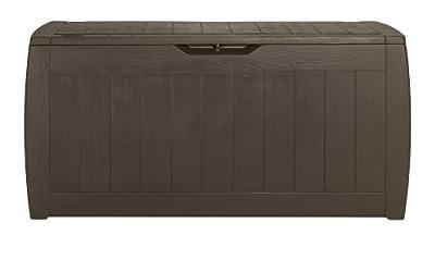 Keter 17191974 Kissenbox Hollywood Box 270L Holzoptik, Kunststoff, braun von Keter - Du und dein Garten