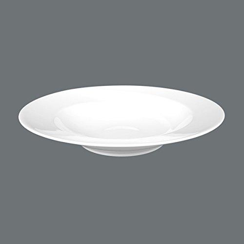 Seltmann Weiden 001.015895 Paso - Suppenteller/Teller tief - rund - Ø 22,5 cm - Porzellan - weiß