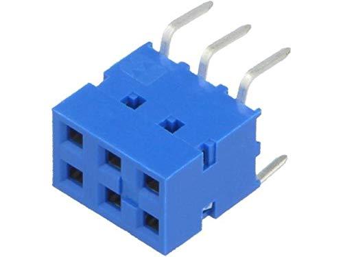 2x 71991-803LF Socket wire-board female DUBOX 2.54mm PIN6 THT 2A straight -