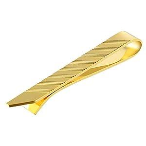 Aienid Manschettenknopf Edelstahl Rechteckiges Streifenmuster Gold Krawatten Für Männer