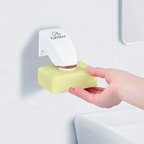 Foluu Magnetischer Seifenhalter 3 m Kleber Wand Seifenhalter Saugnapf Haushalt Container Spender Wandbefestigung Kleber für Badezimmer Seife Zubehör