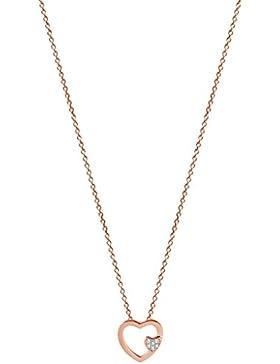 XENOX XS2797R Damen Collier Herz Love Story Sterling-Silber 925 Rose weiß Zirkonia 45 cm