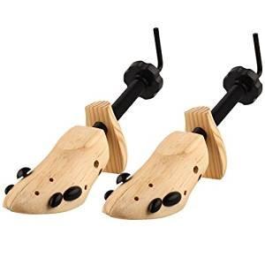 Katomi ein Paar Schuhspanner Länge & Breite: 8 ~14/10 (DE) 0% Echtleder Holz Komplett mit zwei Druckentlastung Plugs--UK Größe Herren: 7-11.5 getragen werden (Die Rechte Kurbel)