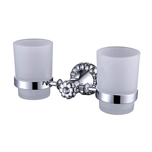Glas-antik-zahnbürste-halter (Usopu Moderne Kupfer Galvanik Marmor Badezimmer Zubehör Zahnbürste Becherhalter Doppel)