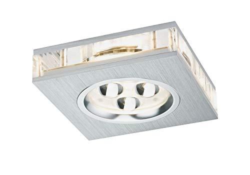 Paulmann LED Deckenleuchte Premium Line Liro LED Square, Metallisch/Transparent, Kunststoff/ Aluminium, 925.39