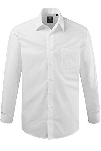 JP 1880 Herren Freizeithemd Hemd Variokragen, (Weiß 20), 49 (Herstellergröße: 4XL)