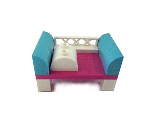 LEGO Cama, sofá o sillón Minifiguras de niñas, Rosa, Cuna con cojín
