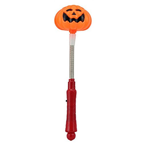 Zantec LED leuchten Kürbis / Schädel Glühen Stick 3 Modi Blinkende Zauberstab Halloween Kinder Spielzeug Party - Rabe Halloween Prop
