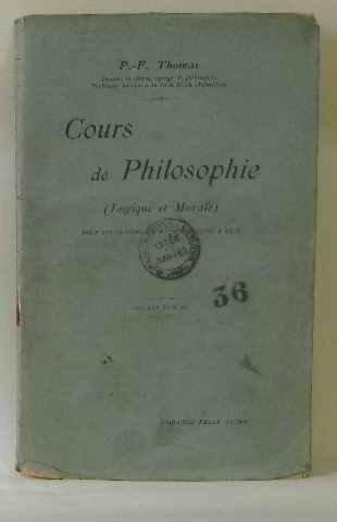Cours de philosophie logique et morale pour les classes de mathématiques A et B