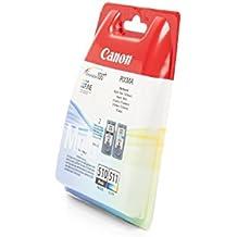 Canon PG-510 y CL-511 - Juego de cartuchos de tinta para impresora Canon Pixma MP250 (2 unidades, negro y color)