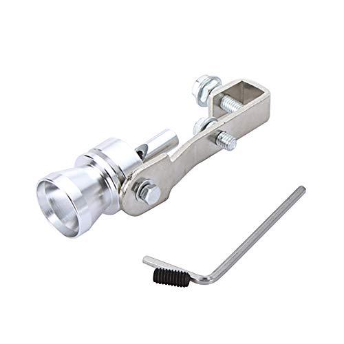 Docooler Turbo Sound Pfeife Auspuff Schalldämpfer Pfeife Auspuff Endrohr Ausblasventil Aluminium Silber für Motorräder, Rennwagen