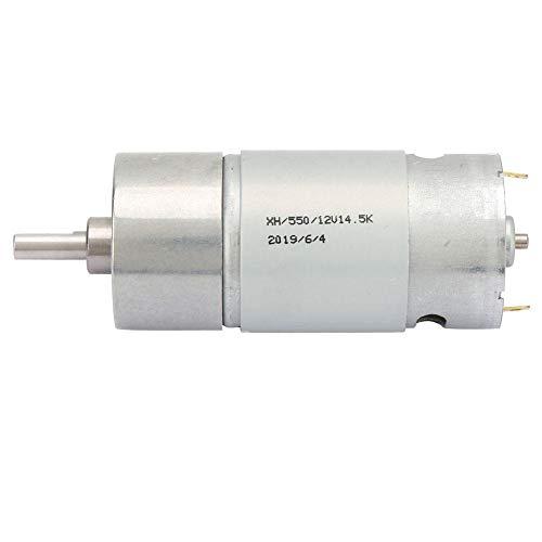 12-V-Motor mit Drehzahlreduzierung, DC-Getriebemotor mit großer Torsionsleistung, integrierter Lüfter, Motor mit reinem Kupferspulenkörper(Untersetzungsverhältnis 10 / U/min 1450) (Motor / Min-dc U 10)