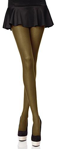 Merry Style Blickdichte Damen Strumpfhose Microfaser 70 DEN (Khaki, 3 (36-40)) (Grün Khaki)