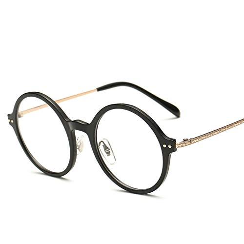 Luckiests Damen Herren Runde Dekorative Glas-Schauspiel Plain Gläser Transparent Brillen UnisexEyewear
