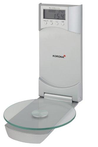 Korona-Küchenwaage Wanda 75870 I Elektrisch I 3kg Tragkraft I Silber