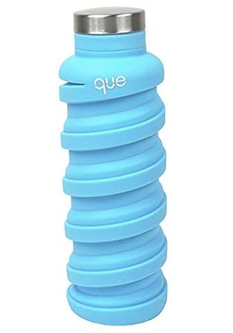Bouteille d'eau pliable–sans BPA, anti-fuite, léger, 567gram Eco–Bouteille d'eau en silicone réutilisable pour les voyages, le sport, le camping, bouteille d'eau par que Bottle, mixte Enfant Fille femme Homme, Iceberg