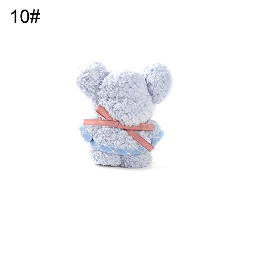 xMxDESiZ Bär Tier geformt Coral Fleece Baby Tröster Decke Badetuch Waschlappen Geschenk 80cm Blau -