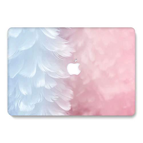 AQYLQ MacBook Pro 13 Fall 2018 2017 Release 2016 A1989/A1706/A1708, Kunststoff Hartschalen Cover Kompatibel Neueste MacBook Pro 13 Zoll mit/ohne Touch Bar und Touch ID, Pulver weiße Feder RS776 -