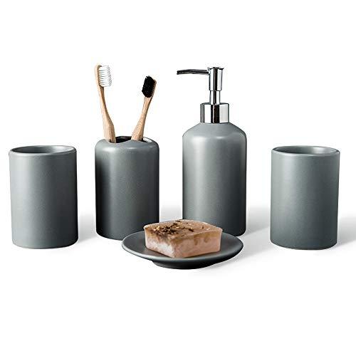 RKY Badzubehör eingestellt Keramik-Bad-Accessoires-Set matt glasiert Waschset Reinigungsmittel Körperpflegemittel 5 Sätze / - /
