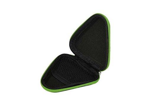 Lovemay Mini Sac de Transport Triangulaire pour MP3, USB, câble, Disque, etc. Noir 9 x 9 cm 9 * 9 * 3CM Vert