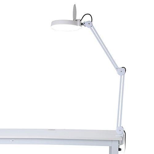 Lámpara lupa LED, lámpara lupa mesa estética ajustable