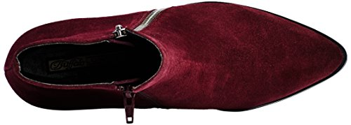 Buffalo 15b66-1 Cow Suede, Bottes Classiques femme Rouge - Rot (Burgundy 01)