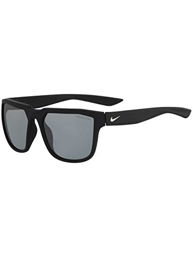 Nike Golf Fly Sunglasses, Matte Black/Silver Frame, Grey with Silver Flash Lens image