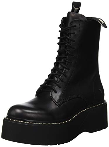 Windsor Smith Lennox, Botas Militares para Mujer, Negro (Black 001), 38 EU